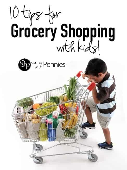 10 Great tips for Grocery Shopping with kids!