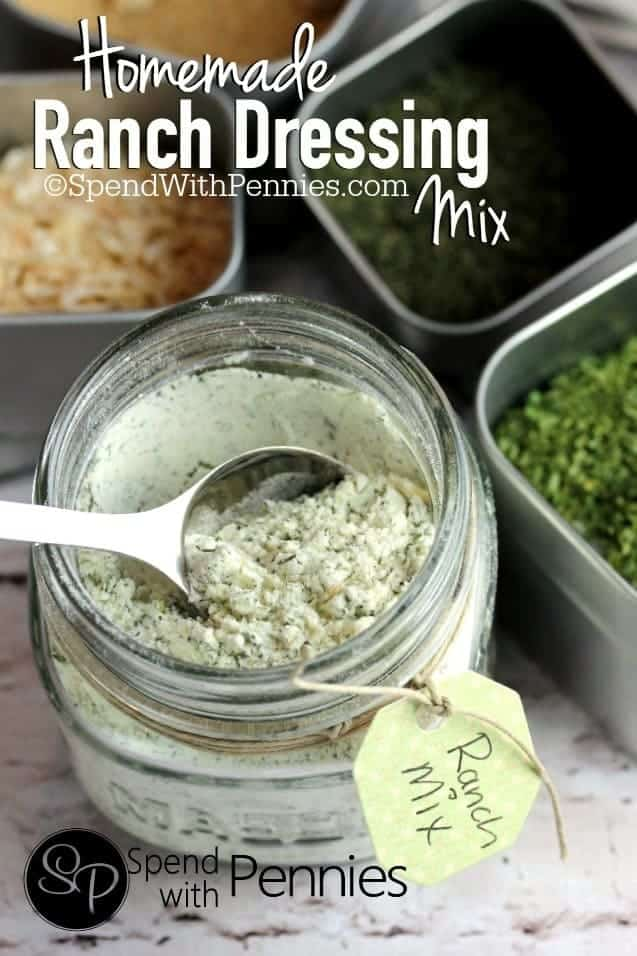 delicious Homemade Ranch Dressing Mix. Simple to make, contains no ...