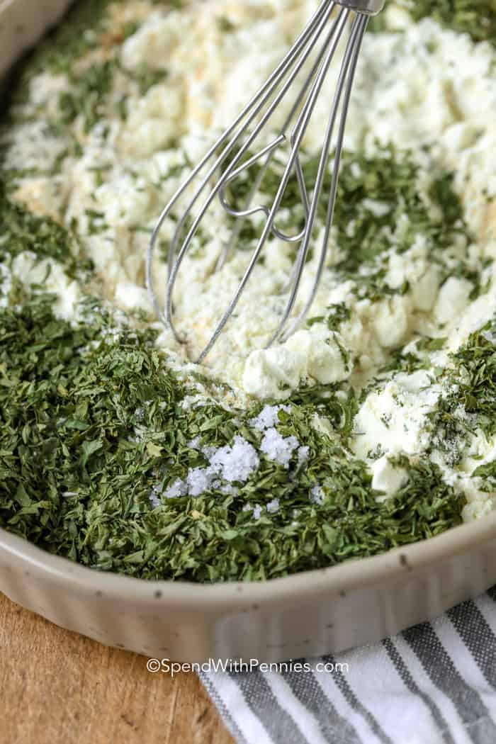 Stirring ingredients for Ranch Seasoning Mix