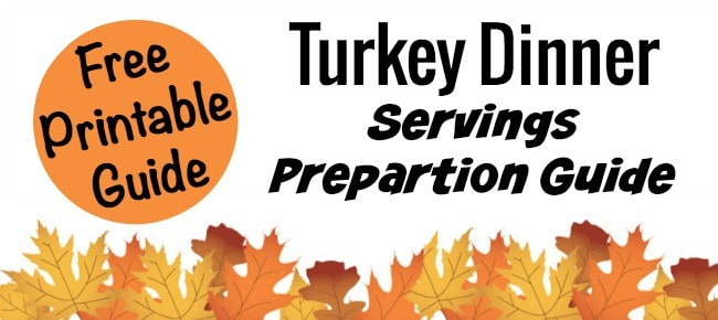 Free Turkey Dinner Printable guide