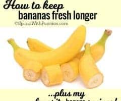How to keep bananas fresh longer!  (Plus some of my favorite banana recipes!)