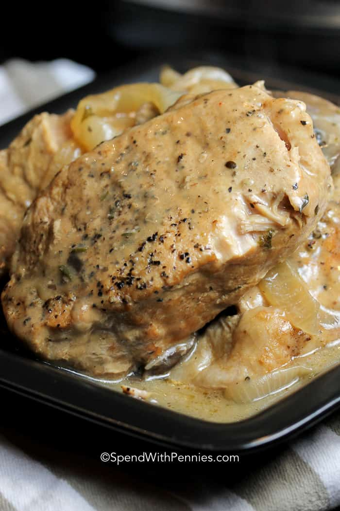 crockpot pork chops with mushrooms and onions