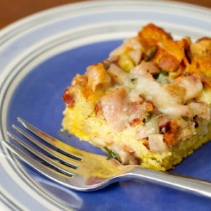 Brunch Casserole on a plate