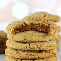 Caramel Stuffed Ginger Cookies