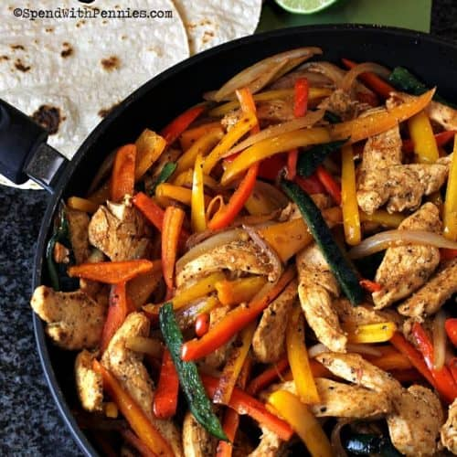 Easy Chicken Fajitas Spend With Pennies