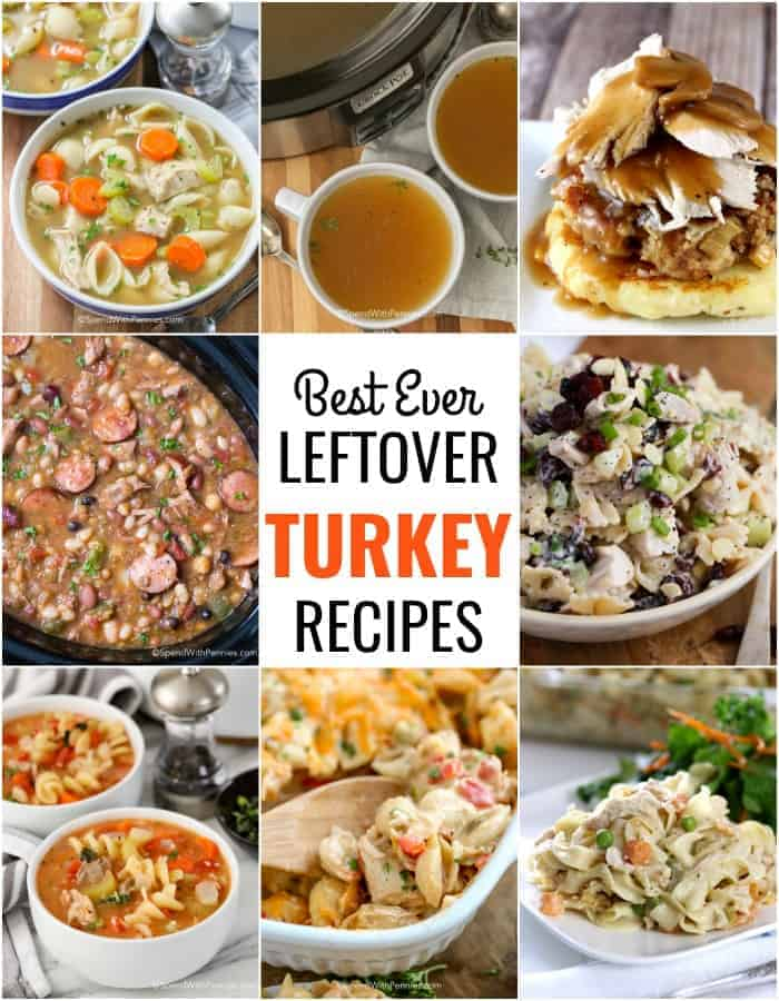 leftover turkey recipes including soup, salad, casseroles and more