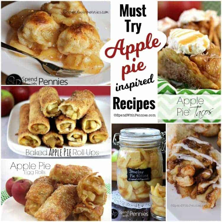 Must Try Apple Pie Inspired Recipes! From Apple Pie Egg Rolls to Apple Pie Tacos these drool worthy inspired recipes are amazing!