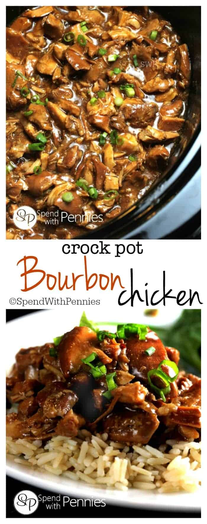 This delicious Bourbon Chicken recipe is one of our favorites! This is great to come home to on a chilly day and is perfect served over rice!