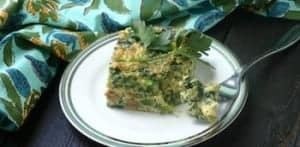 paleo breakfast casserole with broccoli rabe chicken sausage and shallots