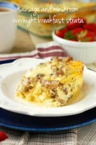 sausage mushroom breakfast_strata