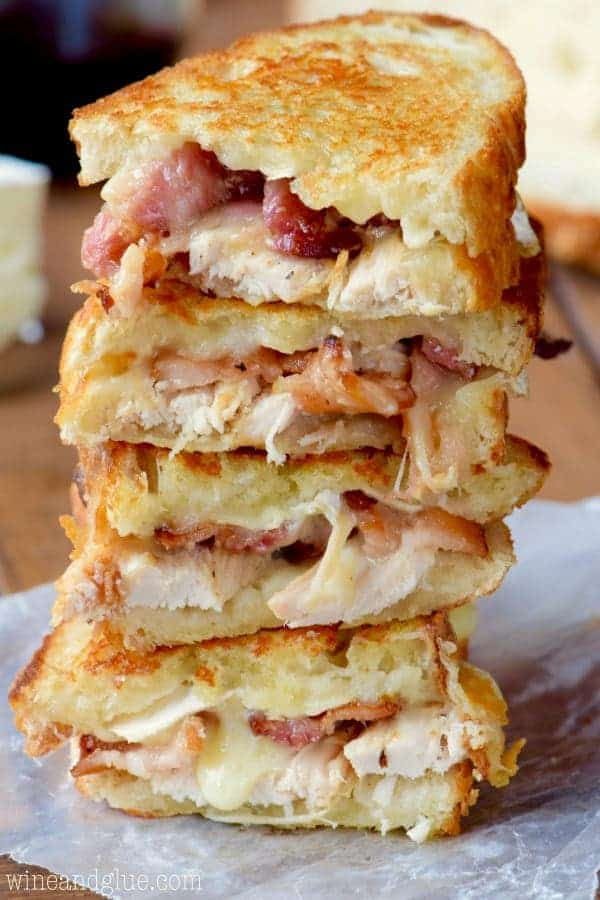 turkey grilled cheese is the perfect leftover turkey lunch