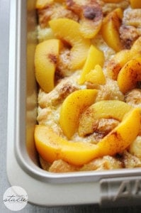 wife saver casserole with peaches