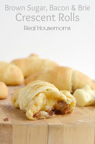 brown sugar, bacon and brie crescent rolls