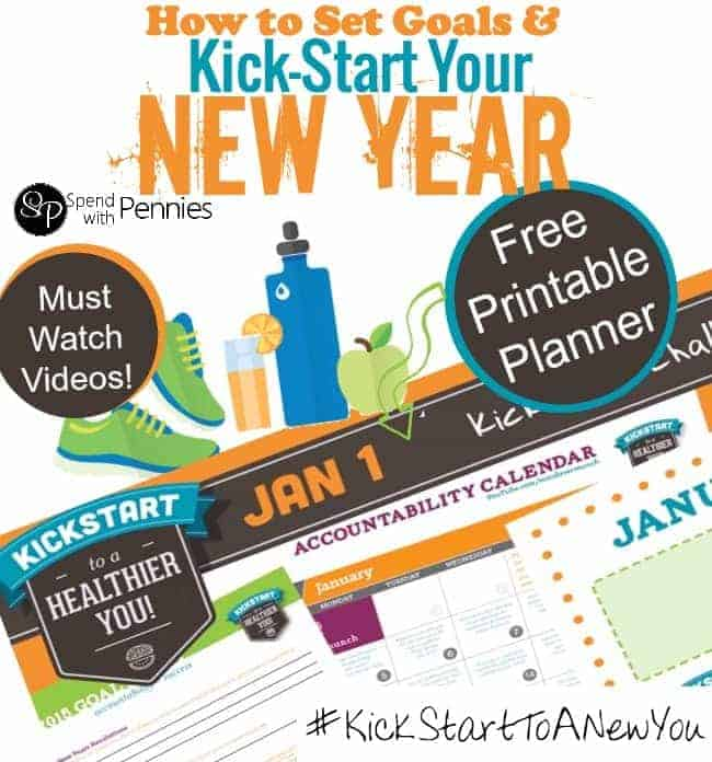 text for setting goals for the new year and printable planner