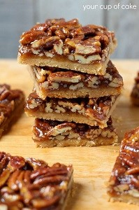 pecan pie bars stack
