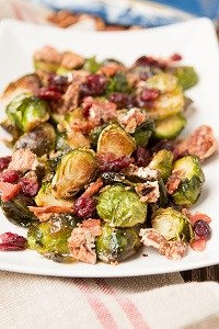 candied pecan bacon brussels sprouts