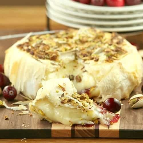 cranberry brie phyllo