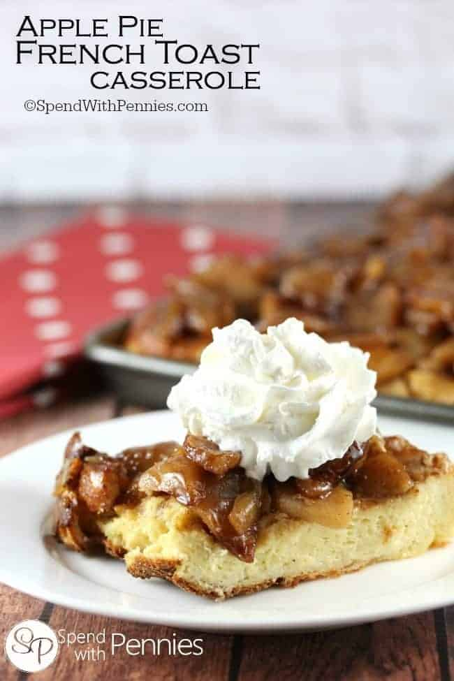 Overnight Apple Pie French Toast Casserole Recipe
