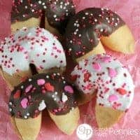 Chocolate Dipped Fortune Cookies .