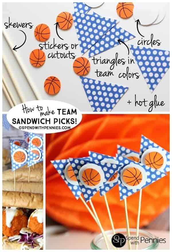 How to make Team Sandwich Picks! These are quick, easy and make any sandwich delicious! (Like these Buffalo Chicken Meatball Subs!)