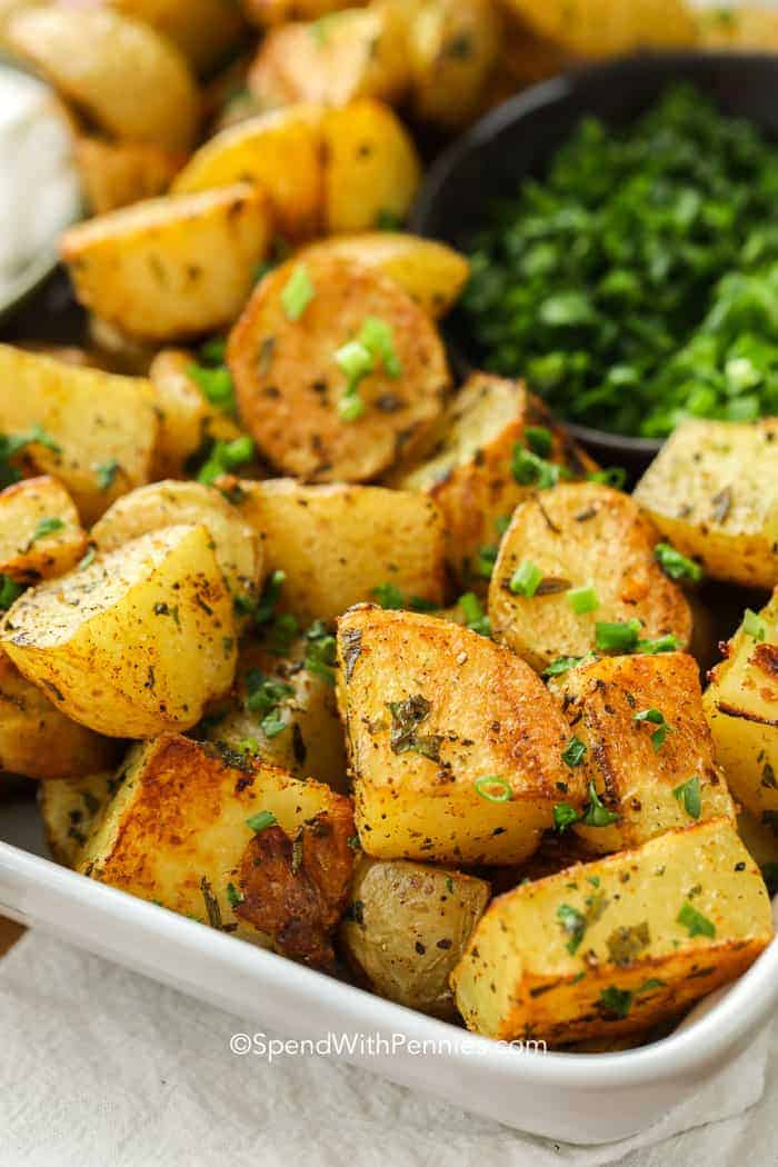 Easy Oven Roasted Potatoes Easy To Make Spend With Pennies