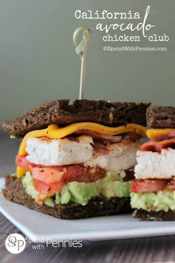 side view of California Avocado Chicken Club