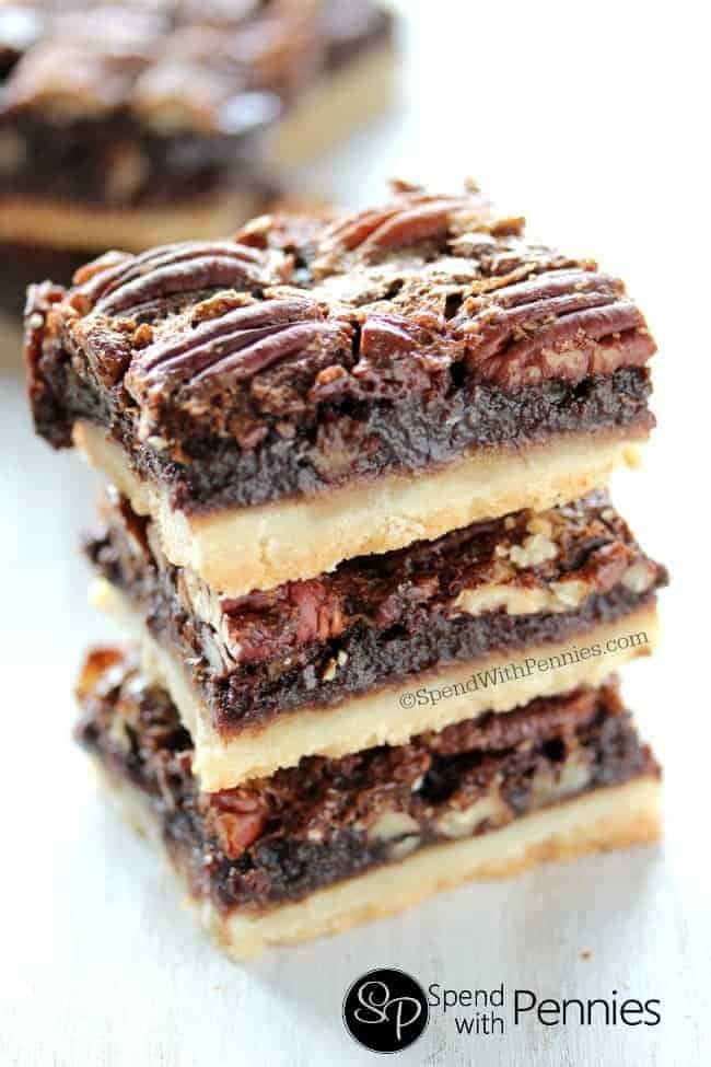 Chocolate Pecan Pie Bars - Spend With Pennies
