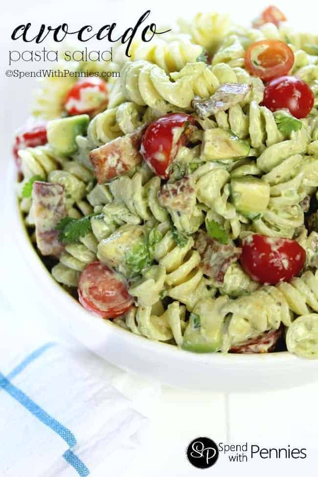 Avocado Pasta Salad Spend With Pennies
