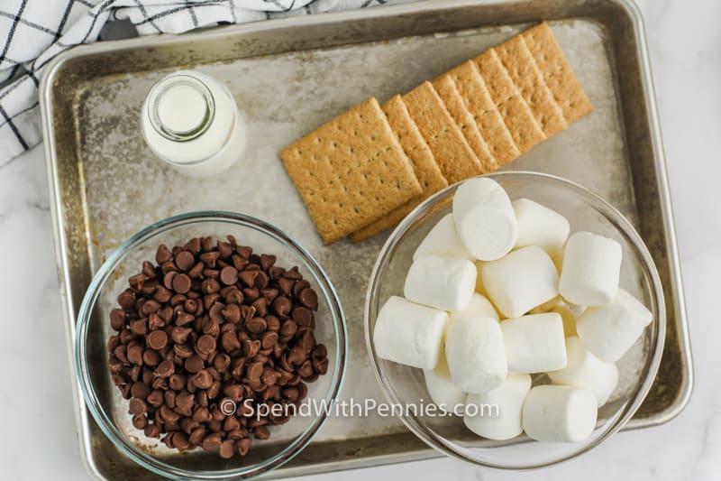 ingredients to make Hot S'mores Dip