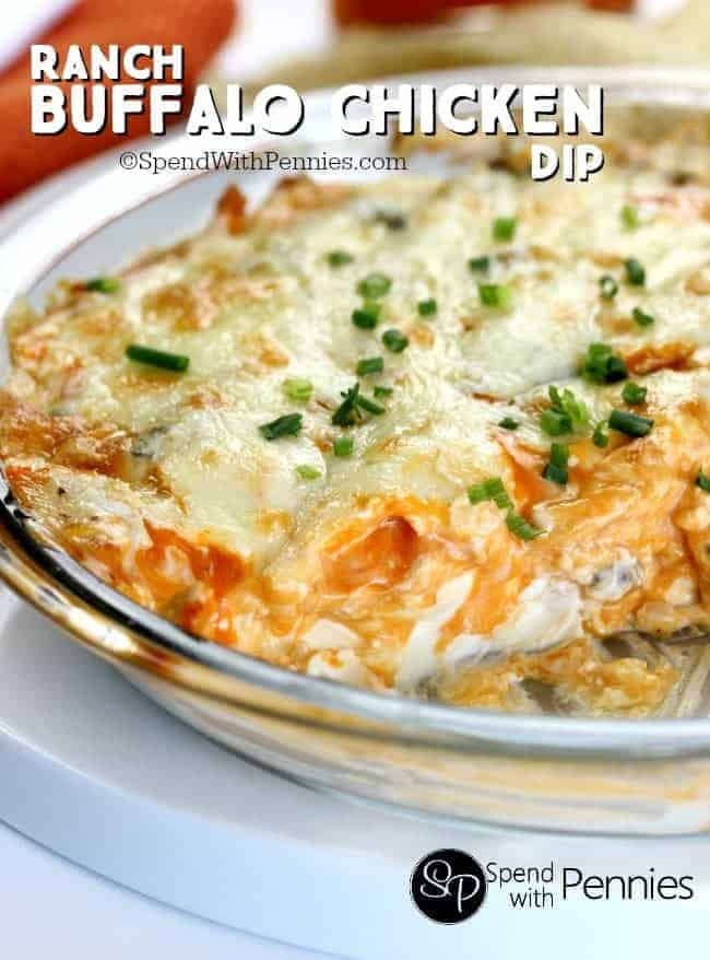 Ranch Buffalo Chicken Dip - Spend With Pennies
