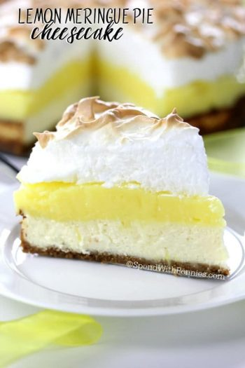 slice of Lemon Meringue Pie Cheesecake