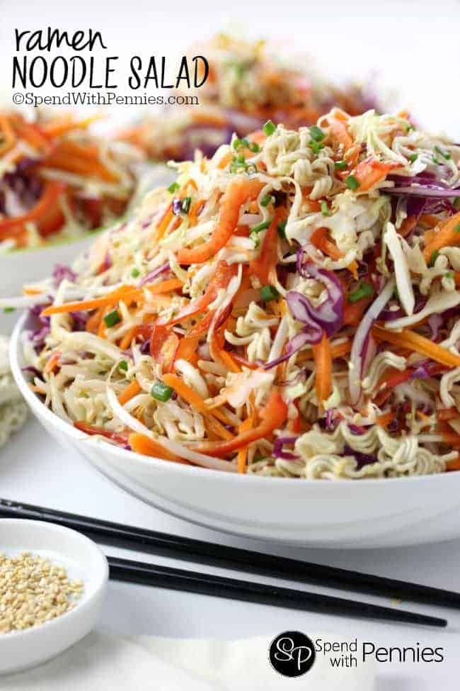 ramen recipe simple of Oriental and cabbage Noodle Salad! Ramen Crunchy tons yummy veggies