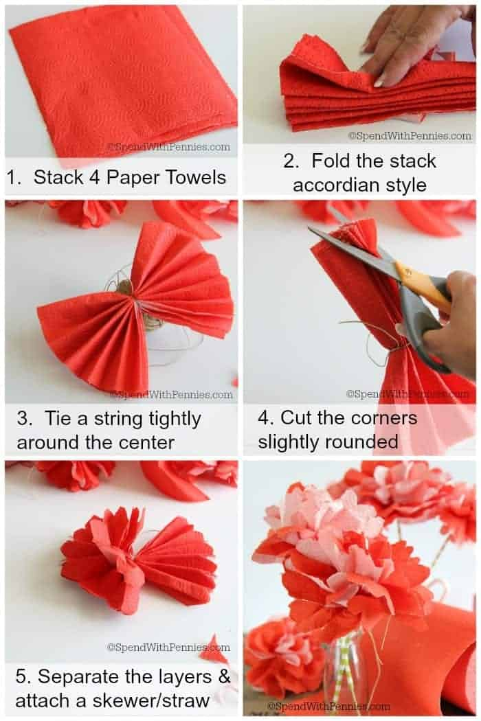 How to host a perfect summer barbecue make paper towel flowers how to make beautiful flowers out of paper towels these are inexpensive quick mightylinksfo