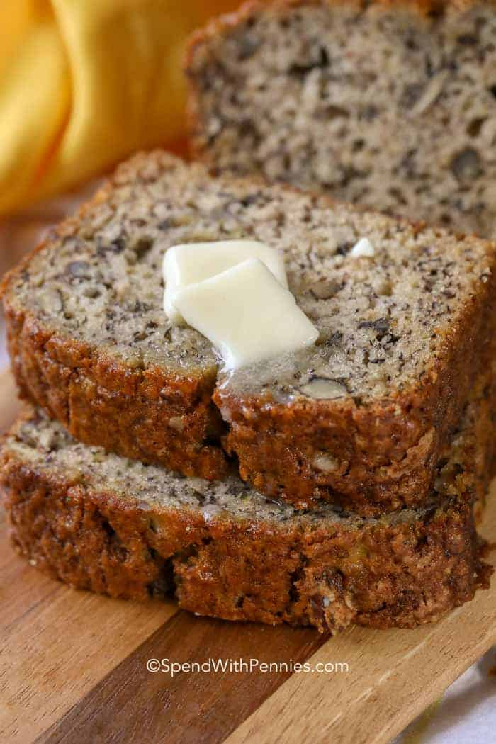 Easy Banana Bread Recipe Deliciously Moist Spend With Pennies