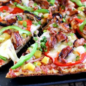 Grilled Hawaiian Chicken Pizza