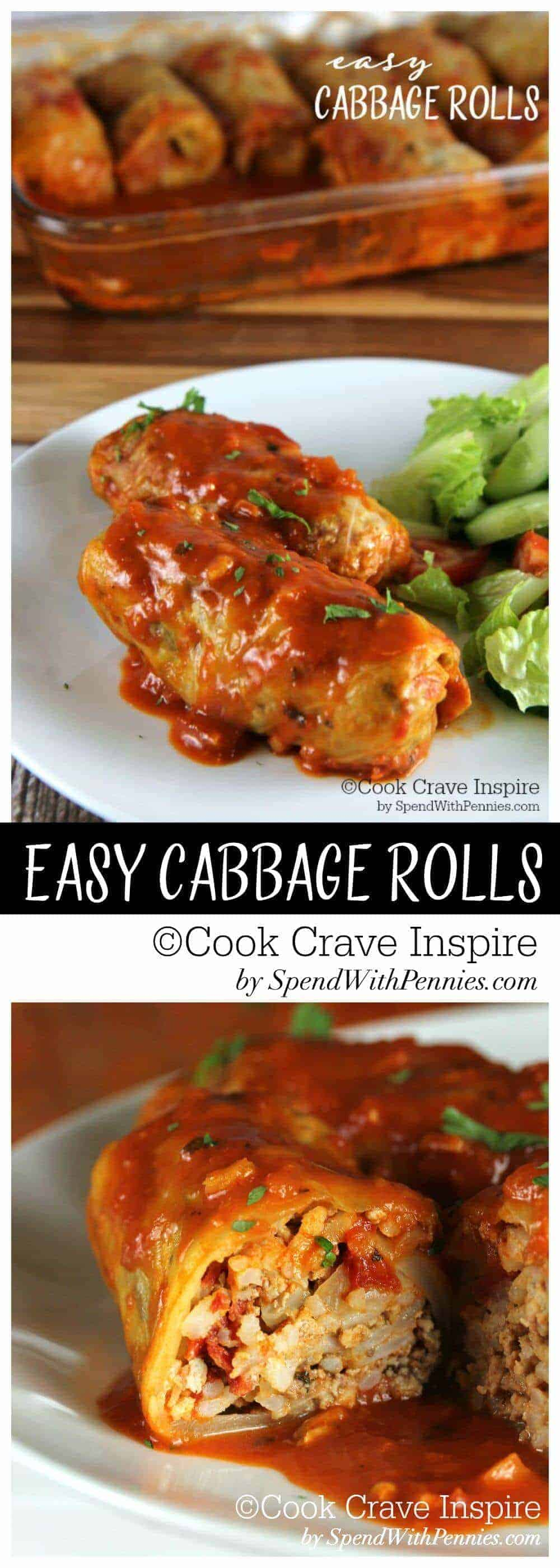 Easy Cabbage Rolls.with a title