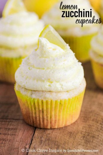 frosted Lemon Zucchini Cupcakes
