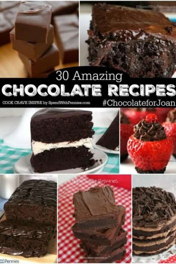a collage of chocolate desserts