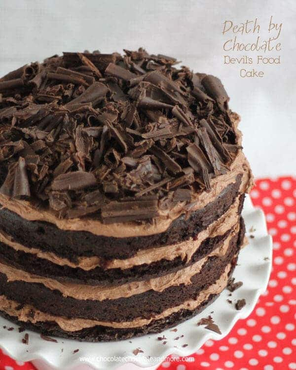 Deliciously amazing chocolate cake layered up with chocolate buttercream for a total chocolate overload!