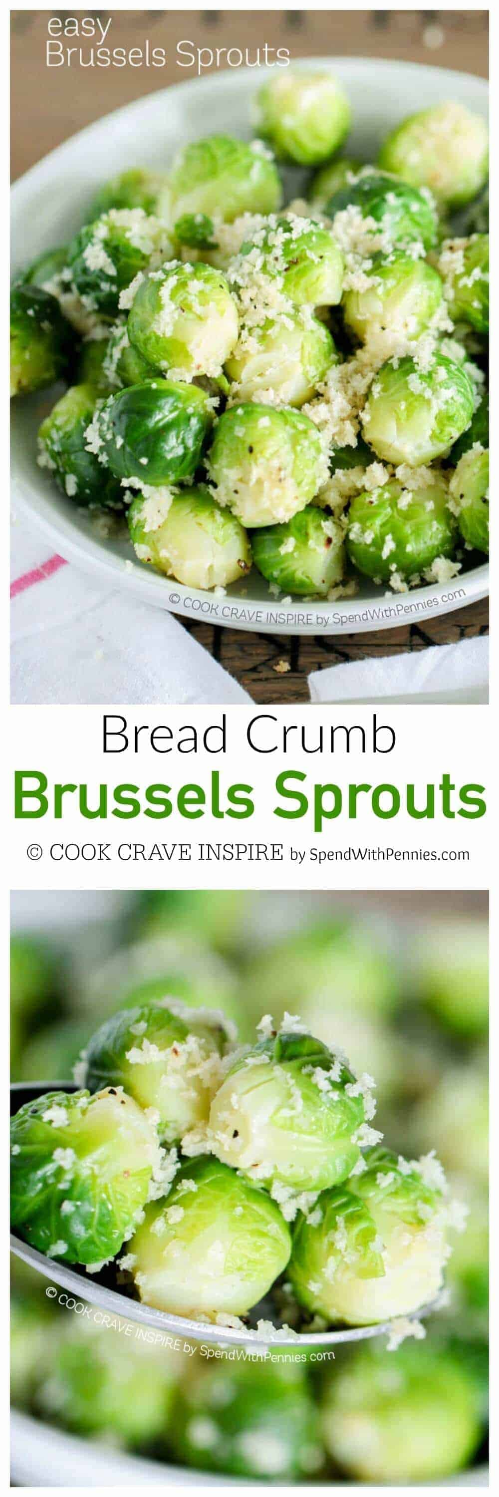 bread crumb brussel sprouts with a title