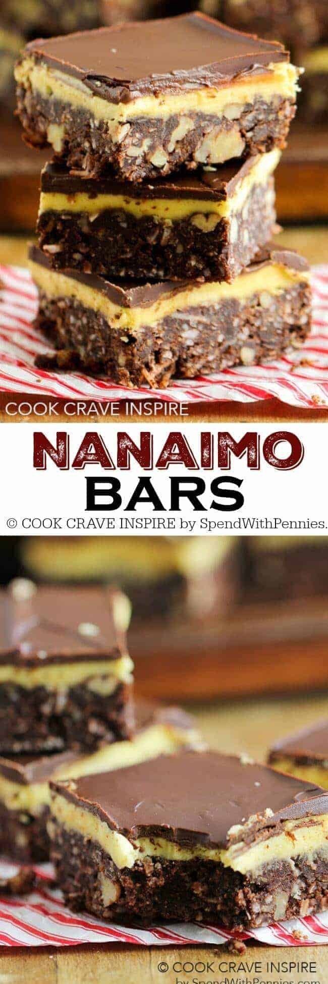 These easy Nanaimo Bars are the perfect addition to every cookie tray. A chocolatey base topped with a buttery filling and more chocolate, it's hard to eat just one!