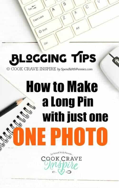 BLOGGING TIP: If you have just one single image available for your post there are lots of options for creating a long pin and increasing your Pinterest traffic!