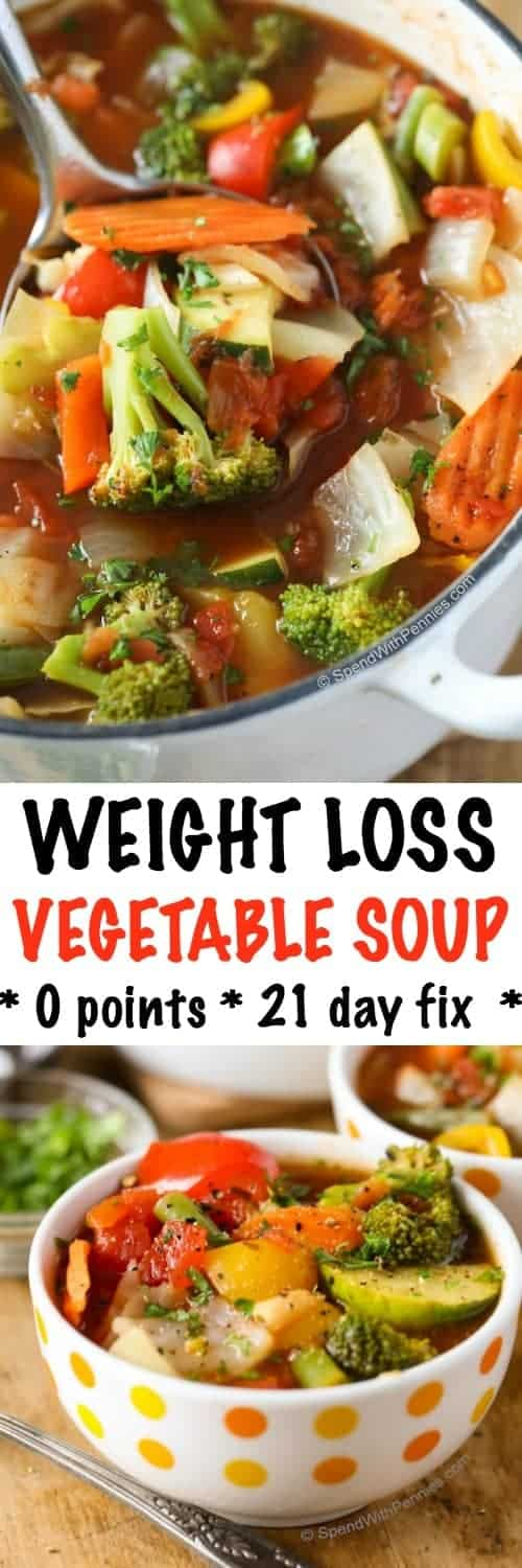 Weight loss vegetable soup recipe spend with pennies this weight loss vegetable soup recipe is one of our favorites completely loaded with veggies forumfinder Choice Image