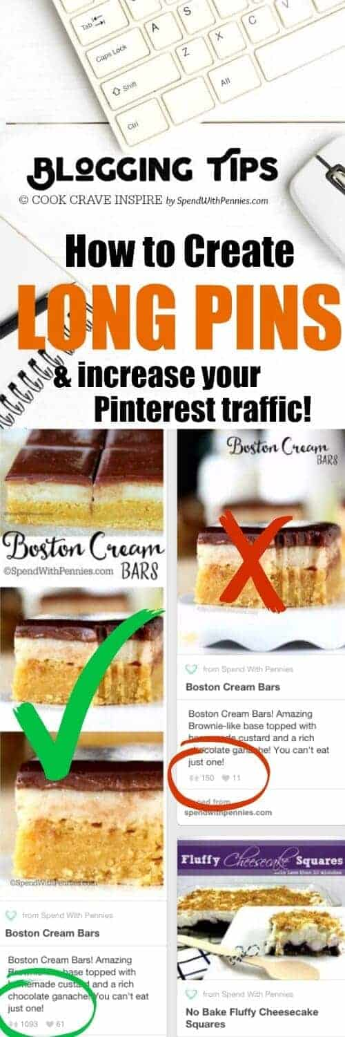 If you're looking to increase Pinterest traffic to your blog, creating long pins should be at the top of your list! Follow this easy tutorial for tips and tricks.
