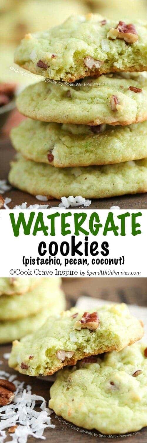 Watergate Cookies with writing