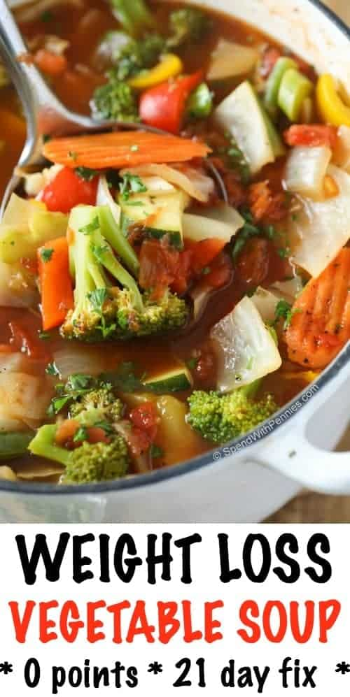 Weight Loss Vegetable Soup Recipe Spend With Pennies