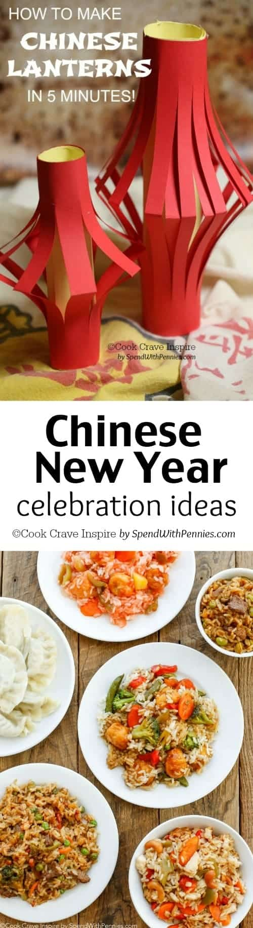 Find easy ideas to celebrate Chinese New Year with your friends and family! Including quick food ideas, decor and crafts!