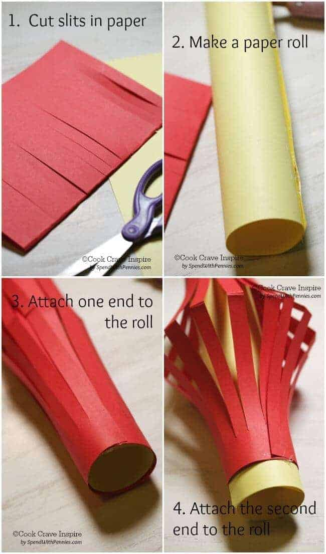 step by step how to make Paper chinese lanterns