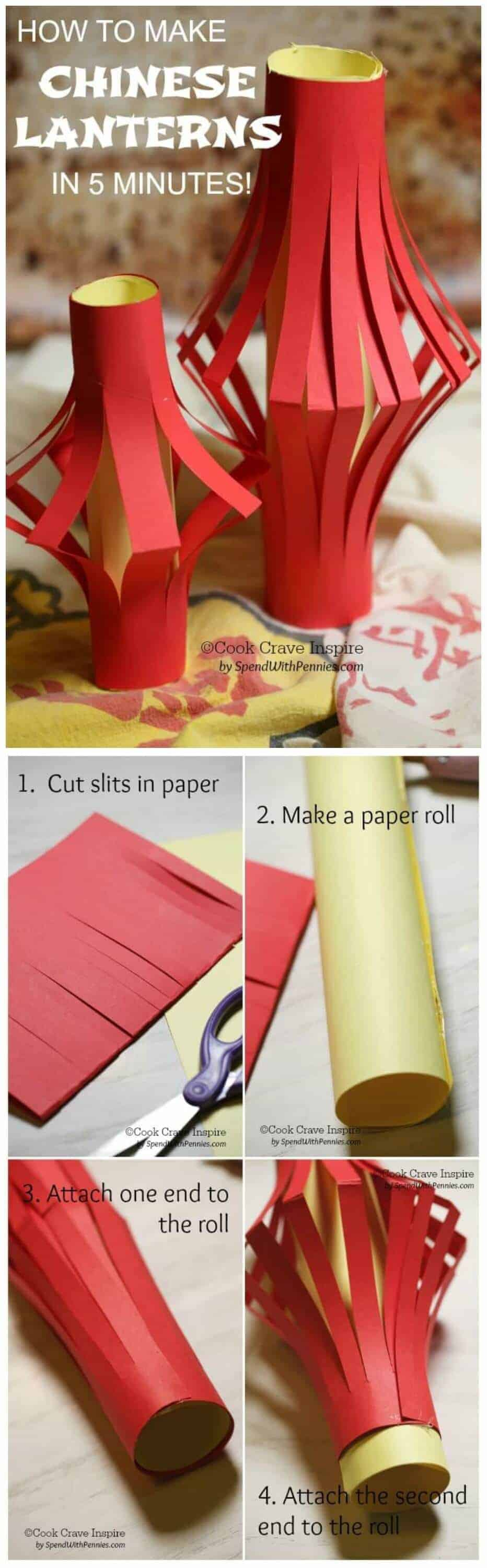 Steps for making paper chinese lanterns