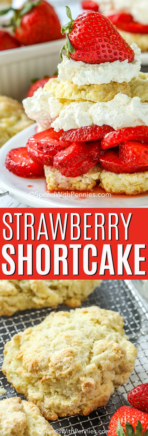 Strawberry Shortcake with a title